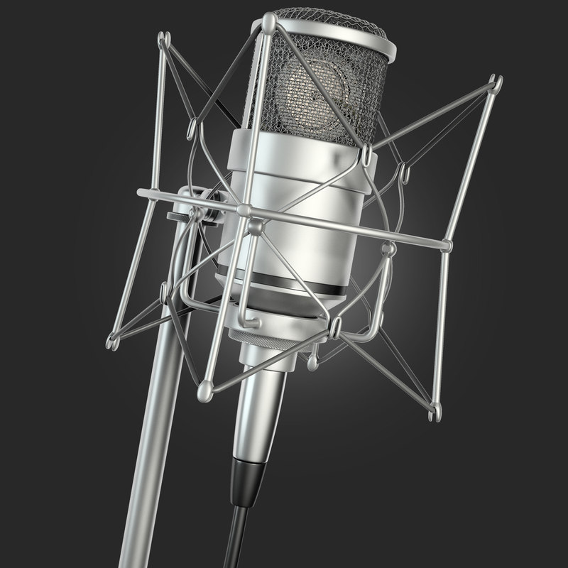 condenser microphone 3d model
