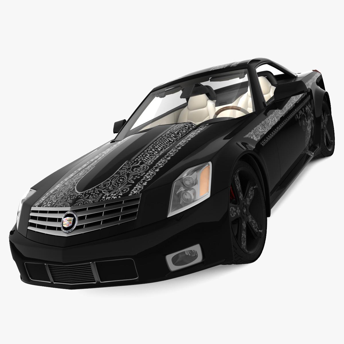3d model cadillac xlr 2010 tuning