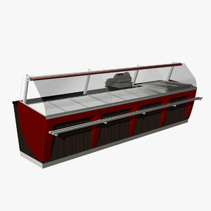 3d model of bakery counter 1