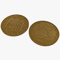 3dsmax gold doubloon