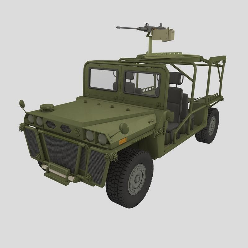 growler vehicle itv 3d c4d