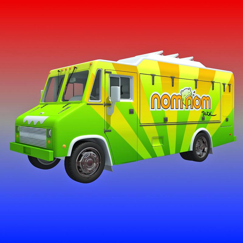 nomnom food truck 3d model