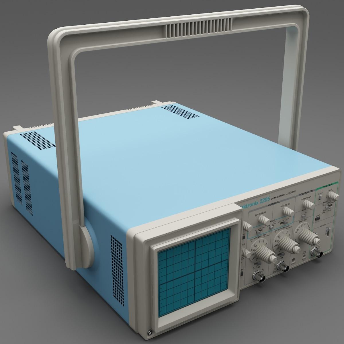 3d oscilloscope tektronix 2205