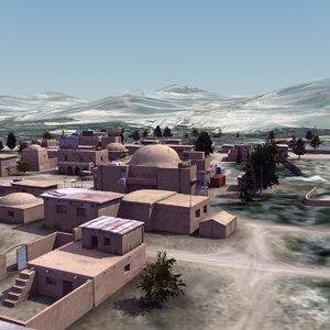 3d afghan arab town landscape