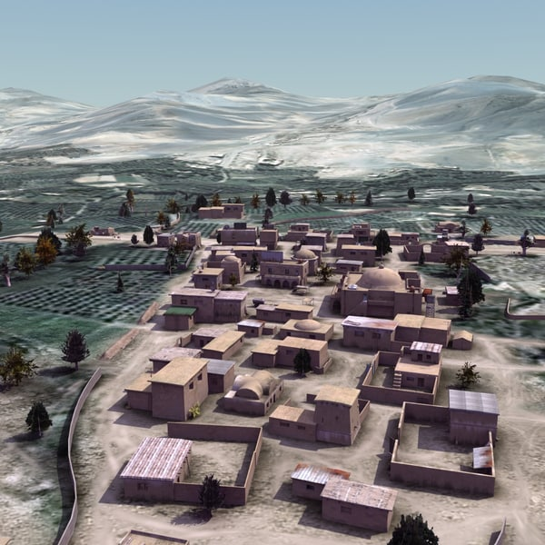 afghan arab town houses 3d max