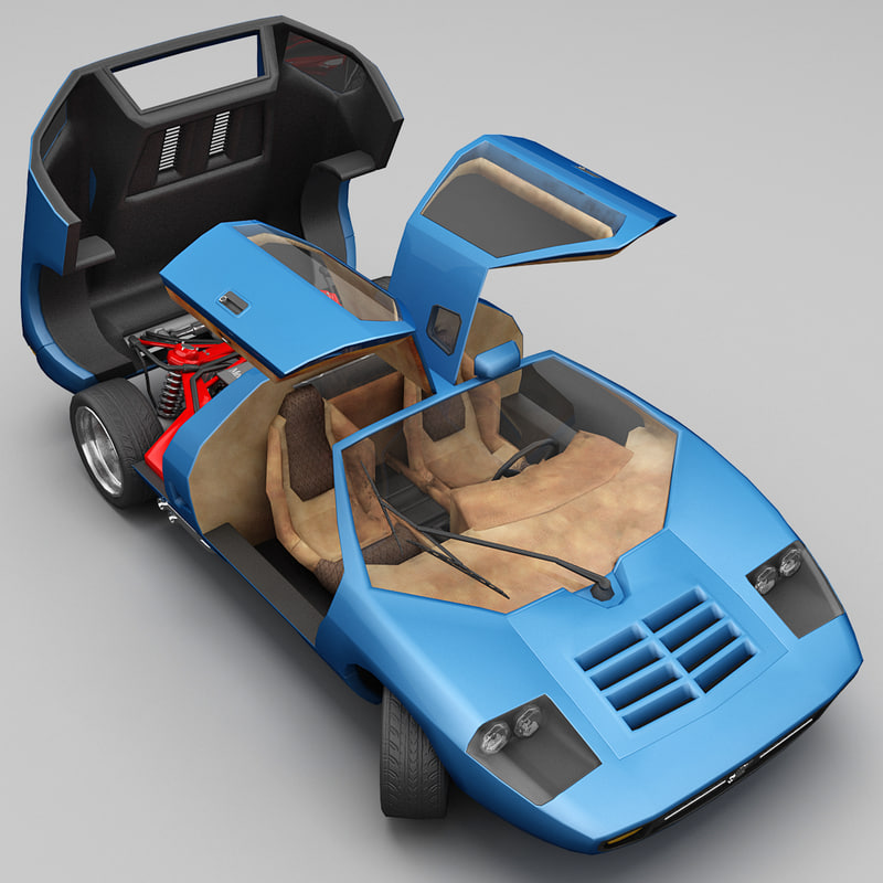realistic supercar isdera imperator 3d max
