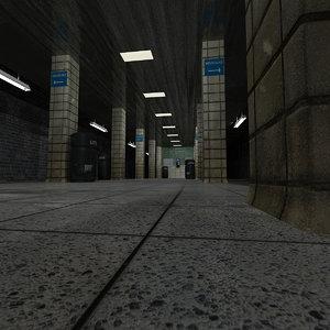 subway scene 3d model