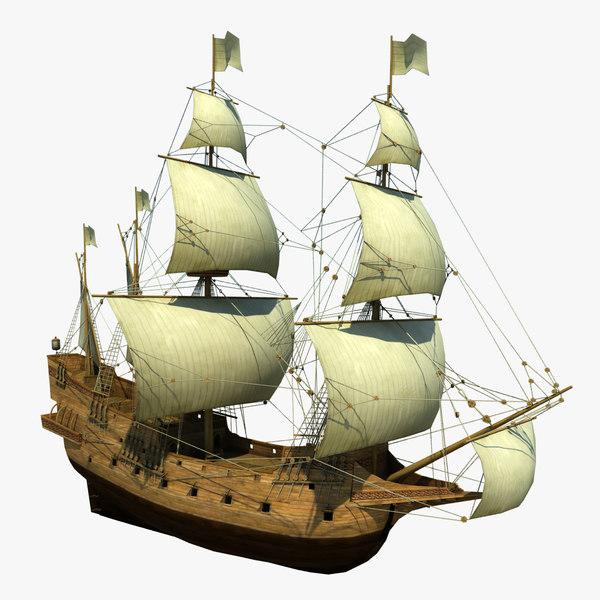 ready galeon 3d model