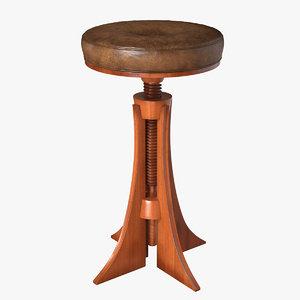3d gj stool model