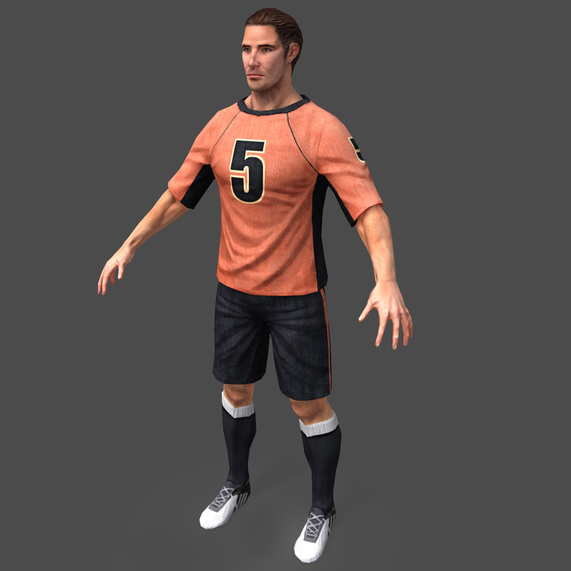3d soccer player real-time model