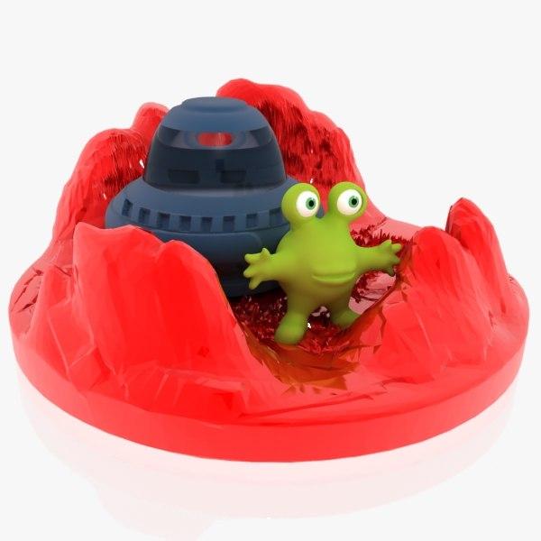 3d model martian plastic toy
