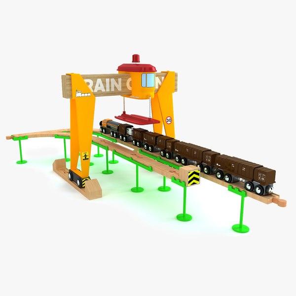 3d model of kids train set