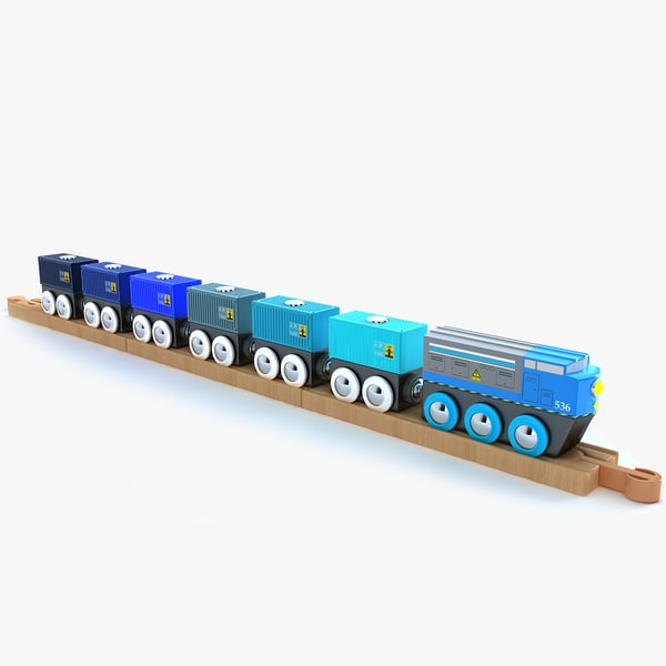 3ds max kids train toy