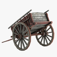 Old Carriage Low Poly
