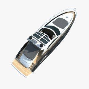 modern yacht 3ds