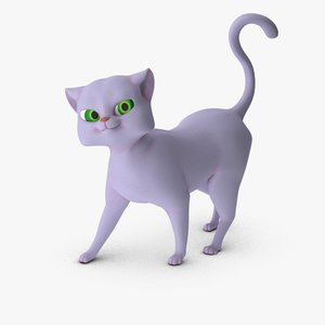 3d cat toon