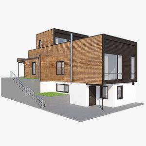 realistic house kvadrat nb 3d model