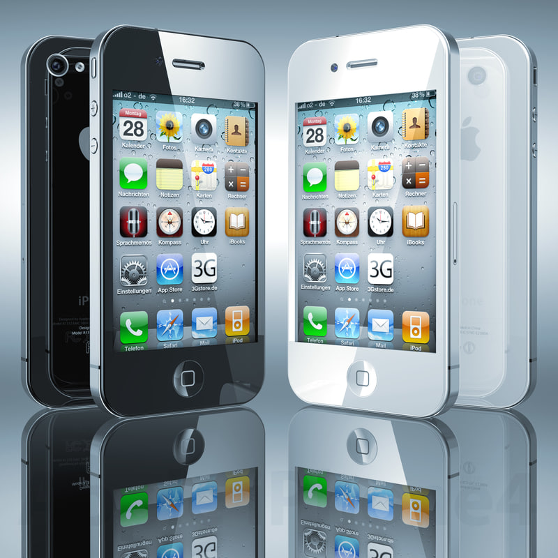 3ds max iphone 4 phone