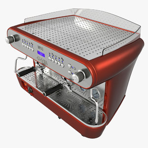 3d commercial gaggia deco coffee maker
