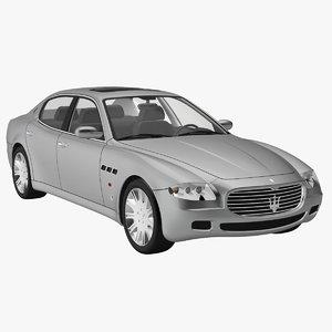 maserati quattroporte 2005 3d model