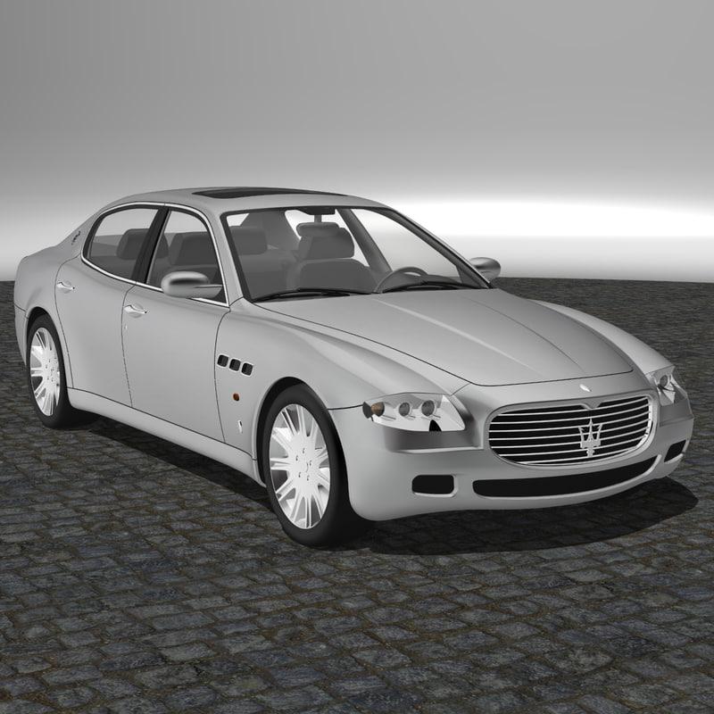 maserati quattroporte 2005 3d model. Black Bedroom Furniture Sets. Home Design Ideas