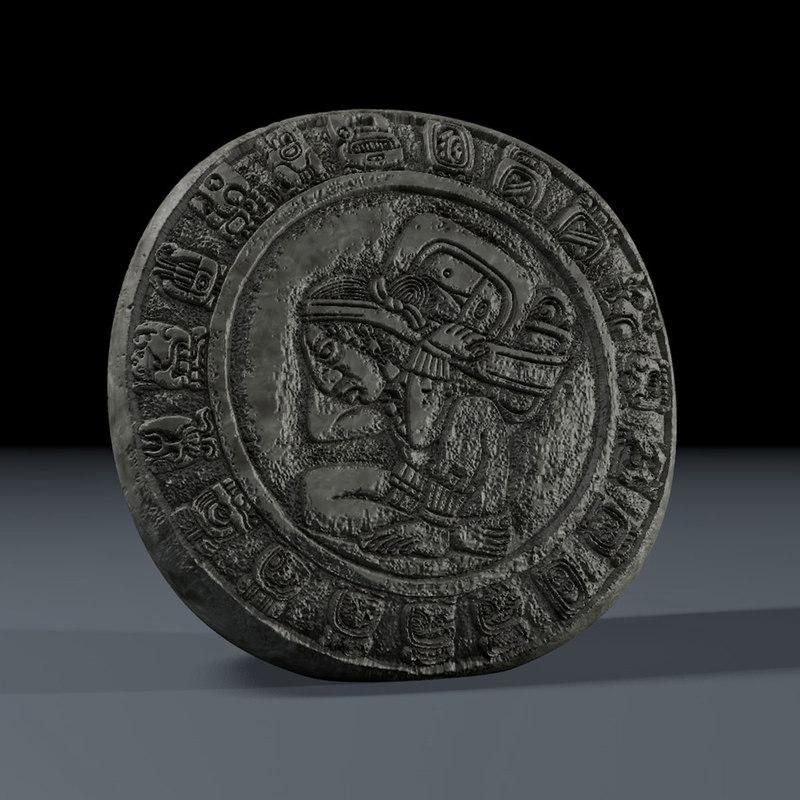 mayan calendar 3d model