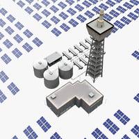 Solar Tower Mojave Desert V3