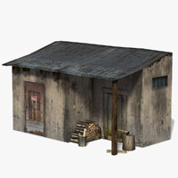 3d old tool shed