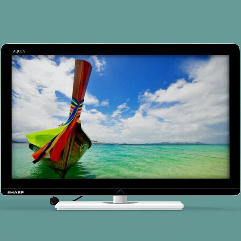 3d model tv sharp lc-37le320e