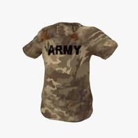 military t-shirt 3d model