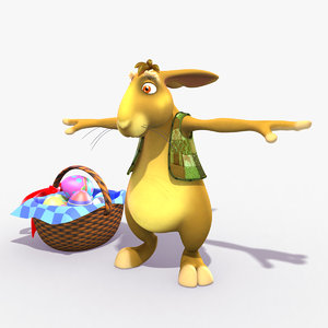 3d model rigged bunny