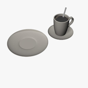 3ds max cup spoon plate