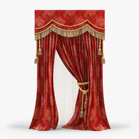 curtain modeled fabric 3d model