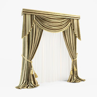 3d model curtain modeled