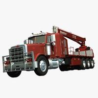 3d model crane truck