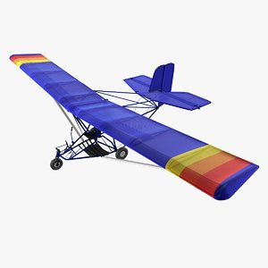 3d model ultralight aircraft lights