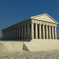 3d model of parthenon temple acropolis