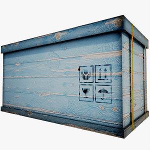 blue wood box max