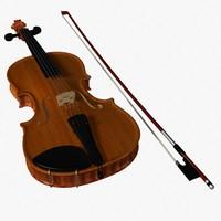 3d model violin