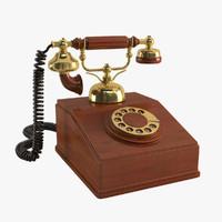 3d max vintage telephone