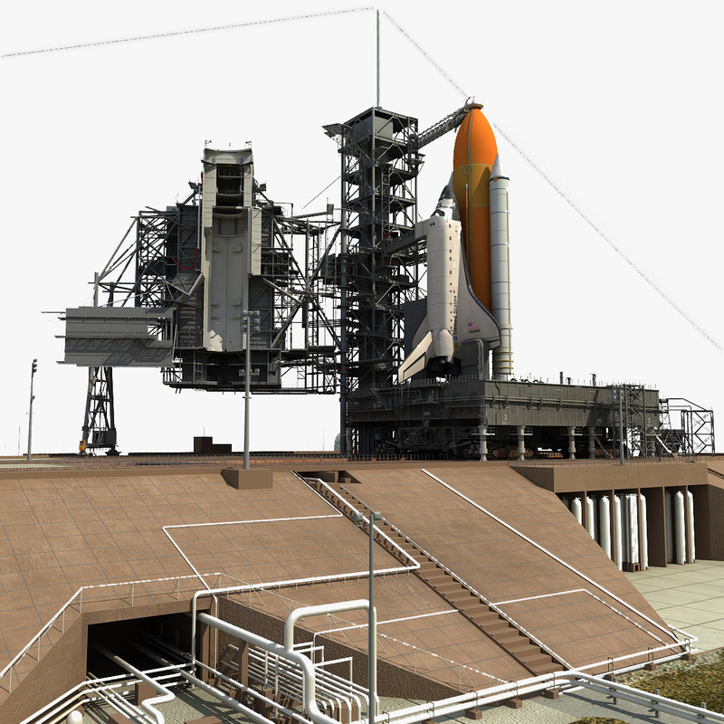 3d nasa launch complex shuttle