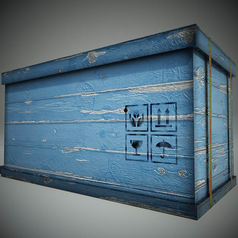 blue wood box max