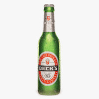 Cold Bottle Of Becks Beer