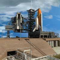 3d nasa launch complex shuttle