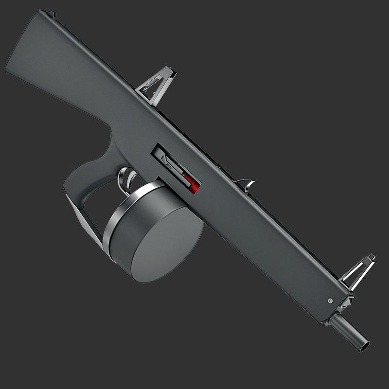 3d model of aa12 shotgun