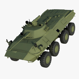 military carrier btr-80 3d model