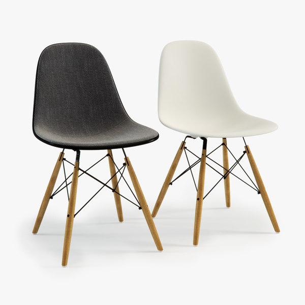 3d model eames plastic chair dsw