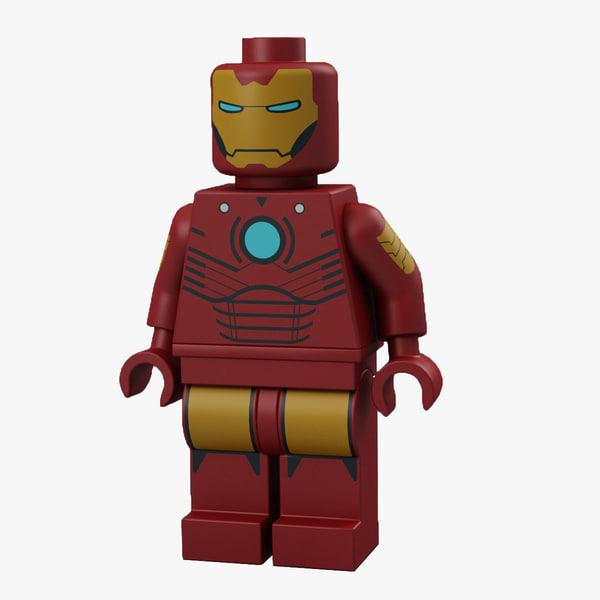 3d model lego man iron