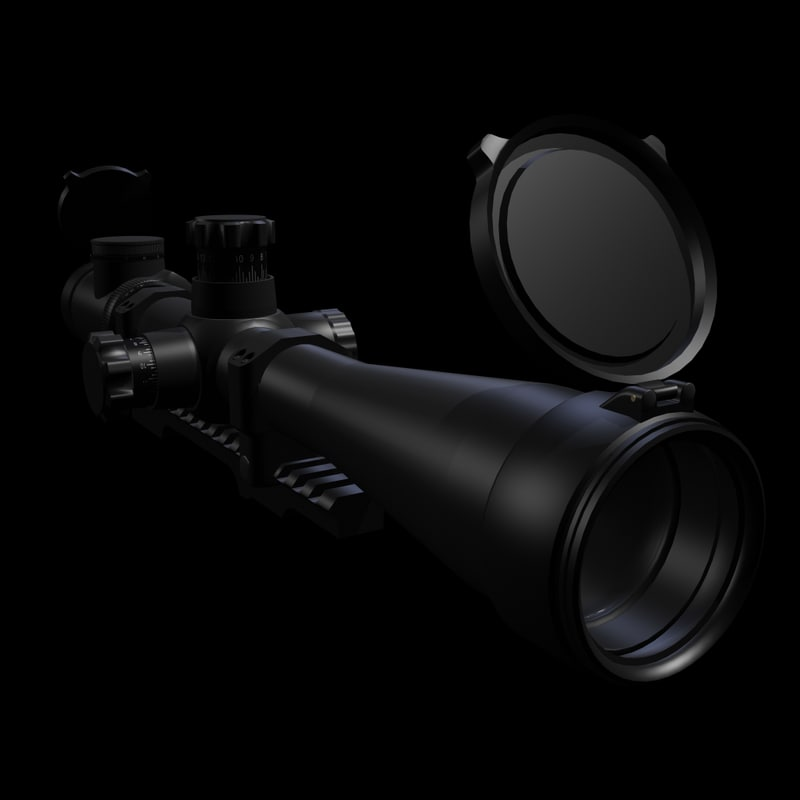 3d max sniper rifle scope