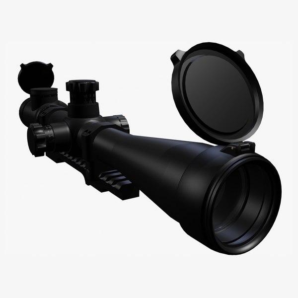 3d max sniper rifle scope